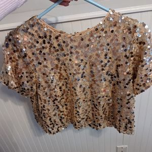 Forever 21 gold sequin top